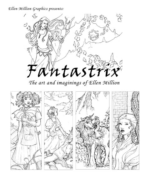 Fantastrix, A Coloring Book For (So-Called) Grown-ups by