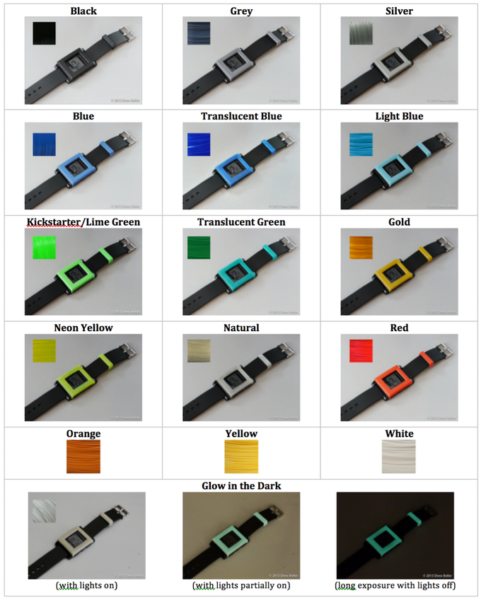 Color Options (shown with Bevel Design)