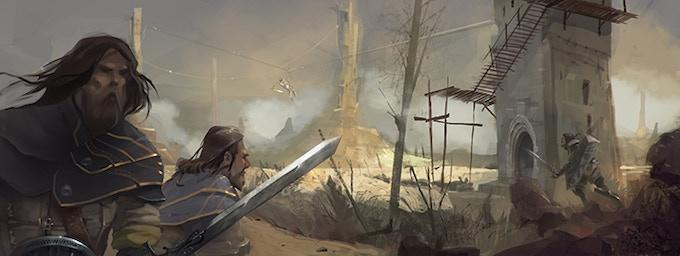 Durno warriors exploring the Zem moorlands.