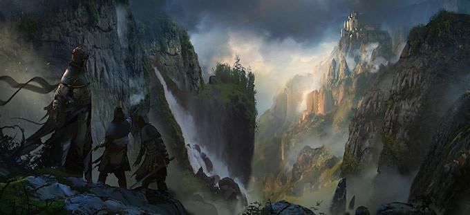 Durno rangers exploring the cliffs around Jotheim.