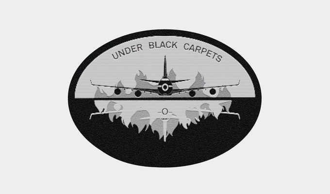 Under Black Carpets embroidered patch