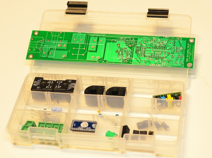 Part of the future EMW JuiceBox Kit (Premium Edition) - all AC components included. In production version, professional enclosure will be added. Note: current 30A prototype shown - production versions will have 60A ratings