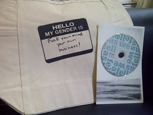 "Kit Yan's debut album ""As We Fell"" and ""My Gender Is Fuck You"" Tote"