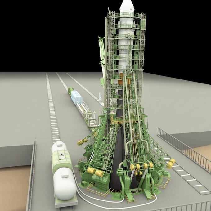 """Gagarin Start"" launch pad model for ""Lunatics!"" pilot episode."