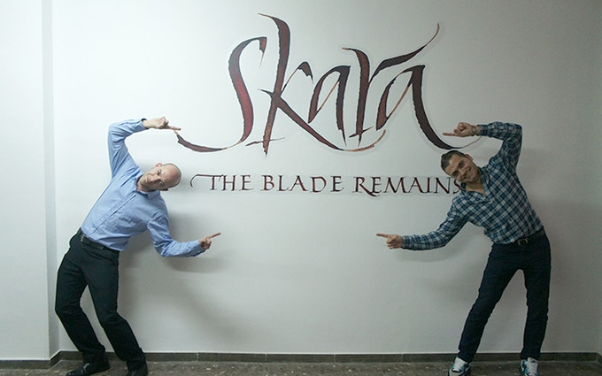 Pablo & Cesar at the Skara Headquarters