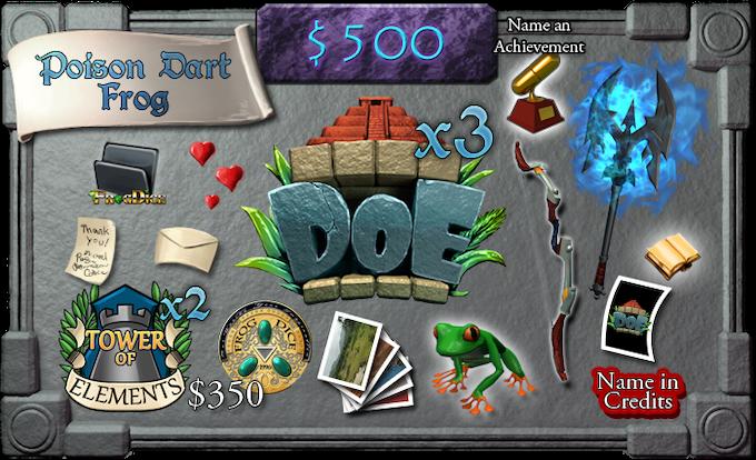 $500 - Poison Dart Frog (limit 20)