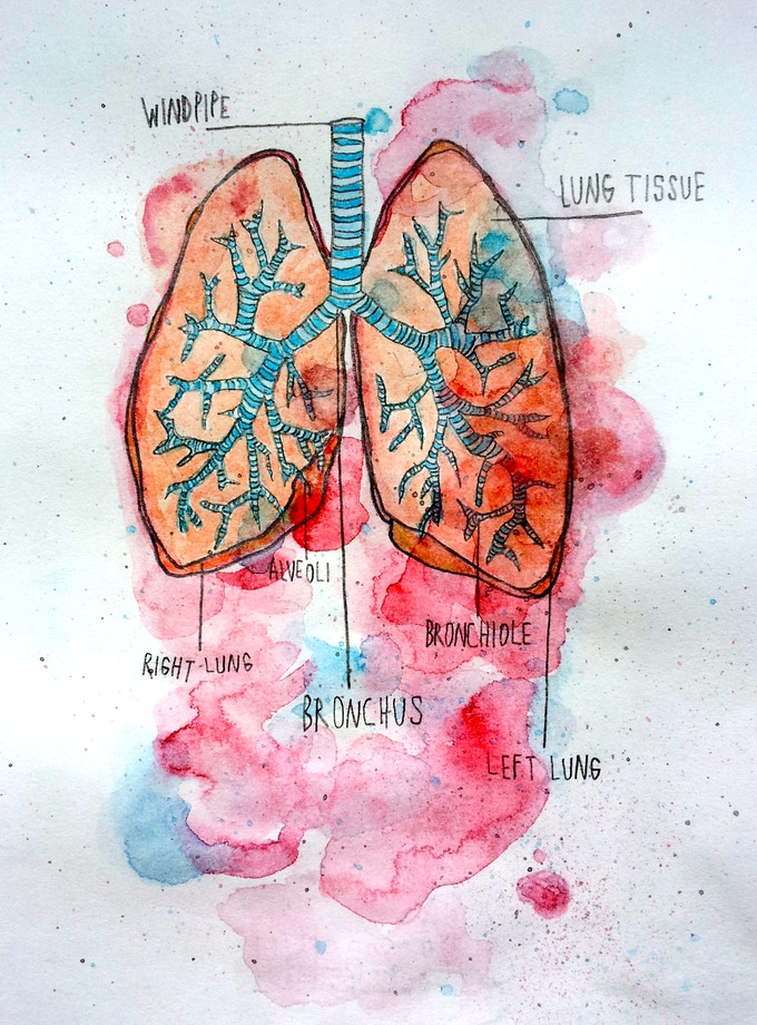 'Our Lungs' - Another painting that will be in the book. Again, one of the mini prints as well.