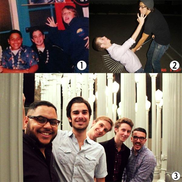 1 - Jordan, Joey, and Brandon (Nov 2002); 2 - Pat and Andrew (Aug 2007); 3 - Jordan P. Kelley (Writer / Producer), Joey Richter (Craig), Brandon Blanks (Writer / Director), Patrick McLaughlin (Pat), and Andrew James Parkhill (Googol).