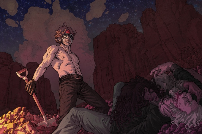 Sample of Jeremy's illustration and color work for Dream Thief.