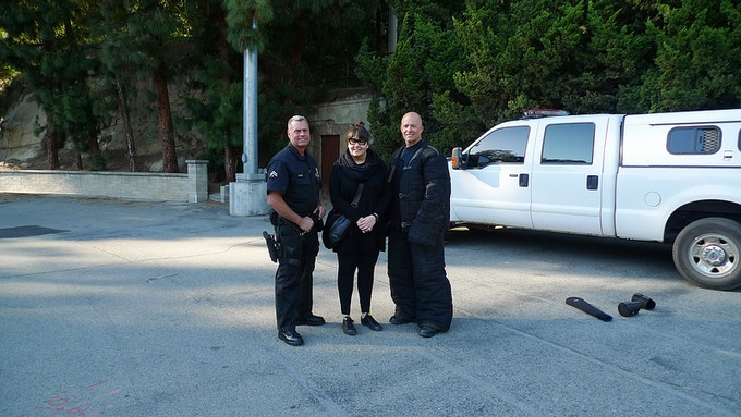 The officers and me