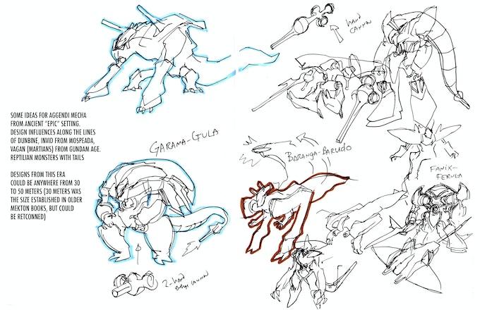 Concept Art for the invading Agendi Mektons