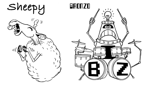 Sheepy and Bronzo