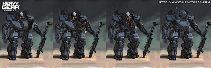 Hunter Gear pilot access concept by Charles Liu