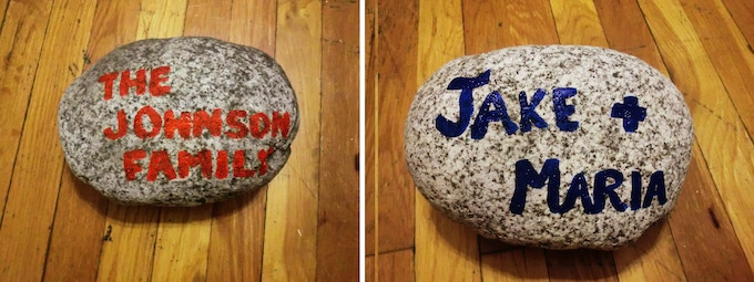 (reward) YOUR NAME on a rock in the outdoor classroom stone garden. Have your name forever immortalized in the rock garden of the classroom or donate in honor of someone special and have their name on the stone.