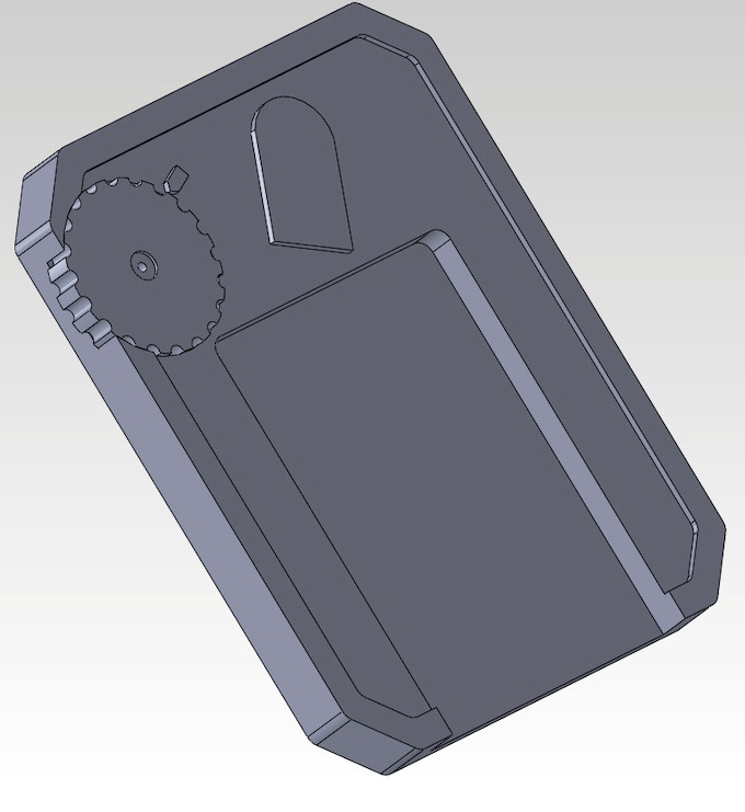 CAD rendering of the Card Graveyard