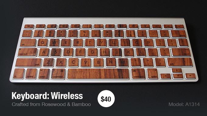 Wood keys for Macbook & Apple Keyboards by RAWBKNY — Kickstarter