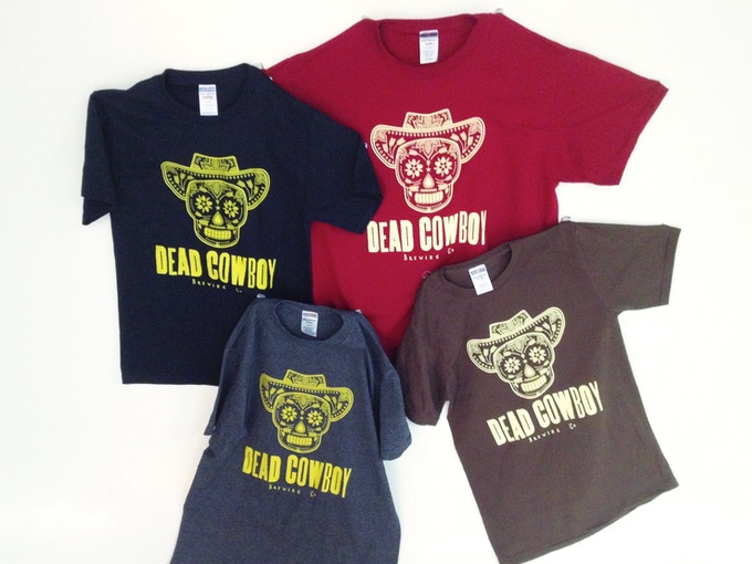 """Second option for DCB T-shirts!  Our """"simple"""" design T-shirt available in Black, Crimson, Heather Black and Chocolate."""