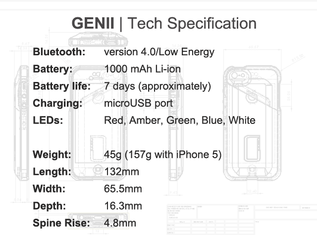 GENII Technical Specifications