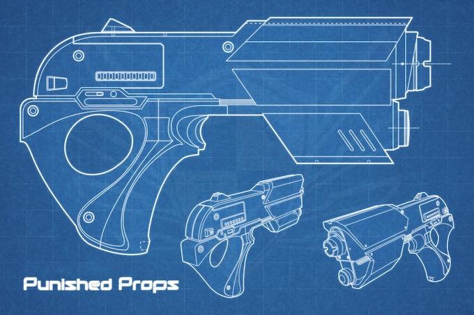 Space Pistol Design Print