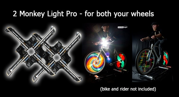 Monkey Light Pro - Bicycle Wheel Display System by MonkeyLectric