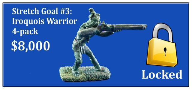 Iroquois Warriors 4-pack of pewter miniatures