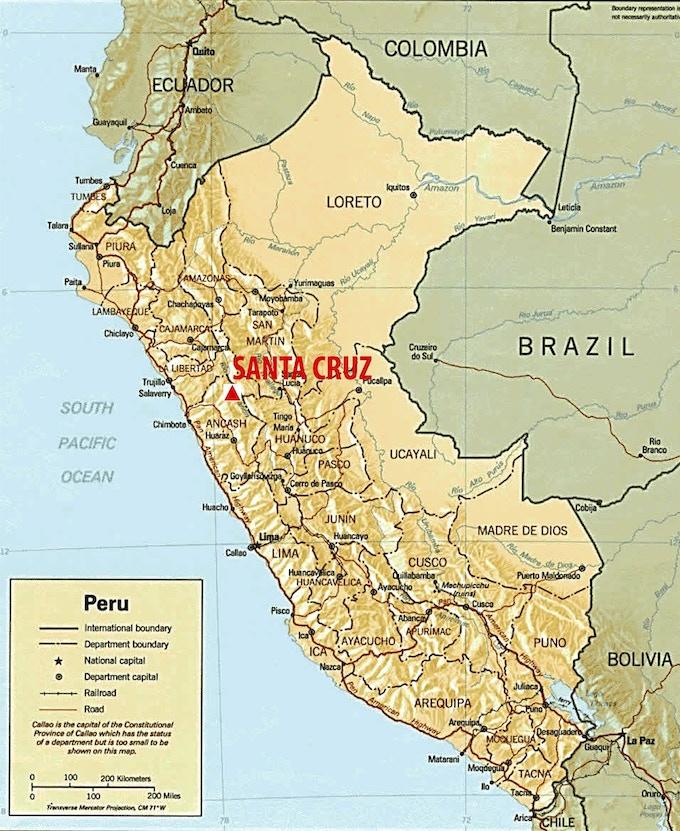 Map of Peru.
