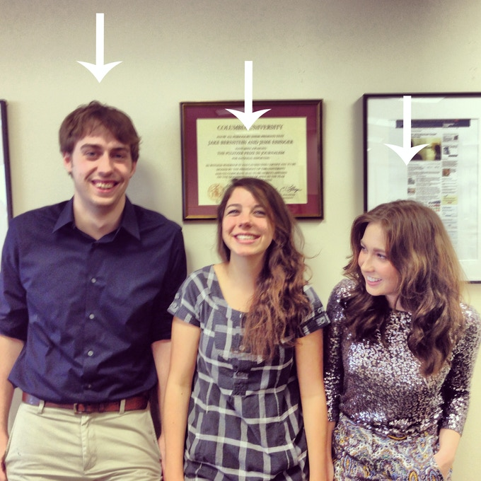 Our interns: Theo Meyer, Christie Thompson and Hanna Trudo