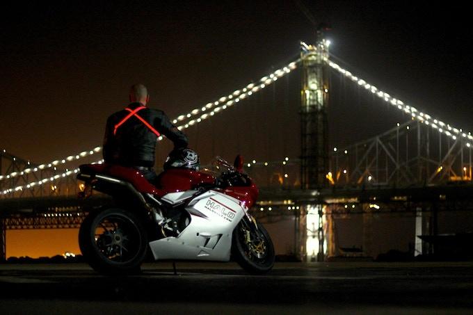 halo led safety belt (rood) voor op de motorfiets - Infopolitie ...