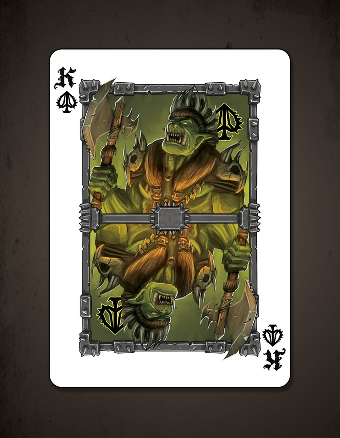 King of spades - GRRRRR!!!!! More card designs to be shown throughout the campaign.