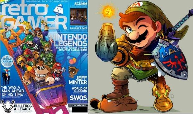 Wil Overton art. Retro Gamer (left, Copyright Imagine Publishing), and Nintendo Gamer (right, Copyright Future Publishing).