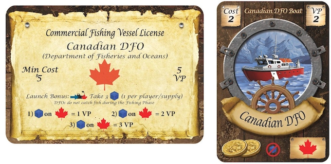 Canadian DFO (Dept. of Fisheries and Oceans) License and Boat