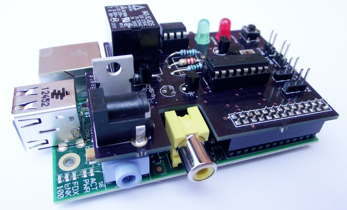v0.1 MotorPiTX on a Raspberry Pi model B