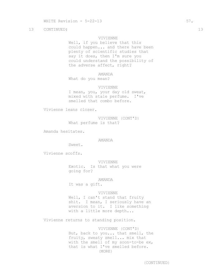 Vivienne / Amanda pheromone scene pg 2 of 3