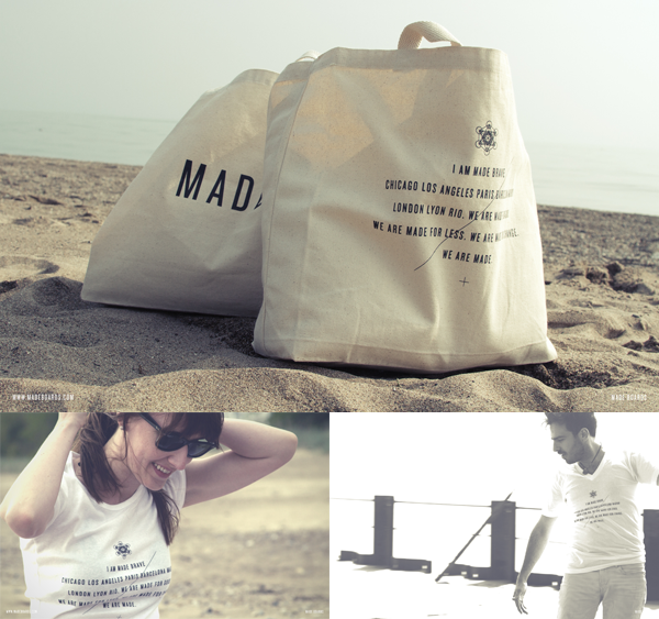 Apparel and bags MADE for good.