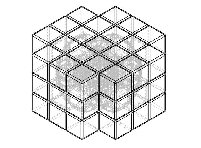 X-Cube Wireframe View (via Solidworks)