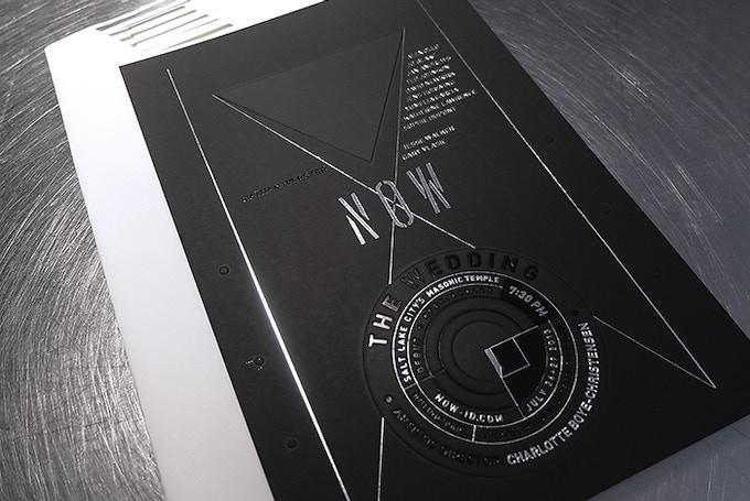Exquisite letterpress invitation designed by Andrea Paustenbaugh.