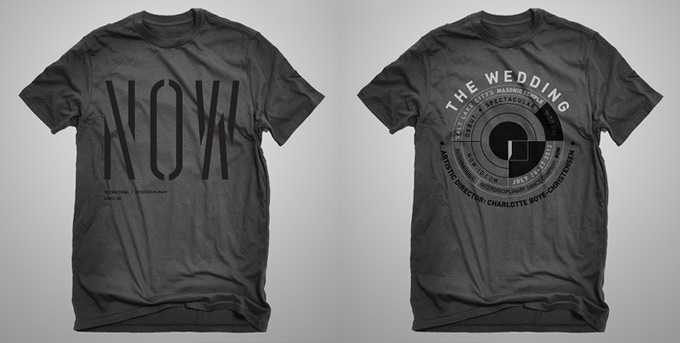 """NOW International Dance Co. and Limited Edition """"THE WEDDING"""" T-Shirts. Your choice or donate twice for both!"""
