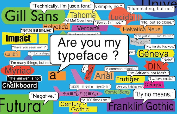 """The """"Where's Helvetica?"""" poster"""