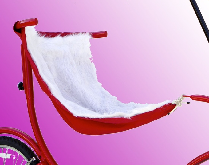 The Ruby Red with White Faux Fur Lining