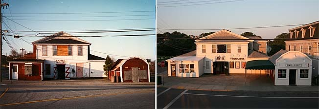Empire Theatre before and after the 1993 restoration.