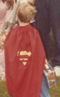 Producer Kyle as a young Superman