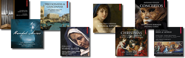 """Various CD albums by Predrag Gosta and New Trinity Baroque, including the critically-acclaimed recording of """"Dido and Aeneas"""" with Evelyn Tubb in the title role, will be awaiting you as your reward"""