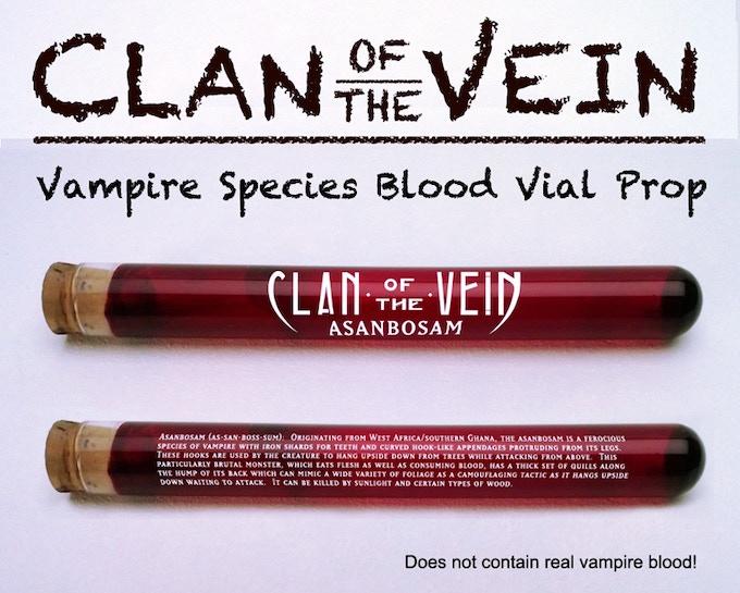 Clan of the Vein Vampire Species Blood Vial prop