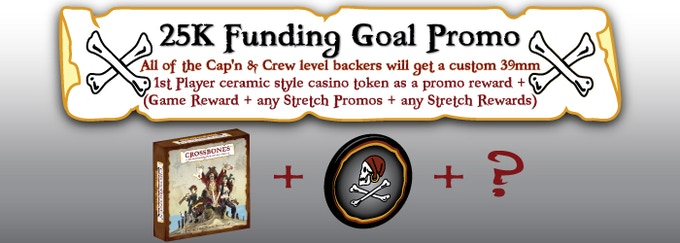 ~ Show yer Kickstarter support to help us fund our dream an' get a bonus 1st player token! ~