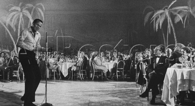 Singer Harry Belafonte Performing at the Coconut Grove Nightclub
