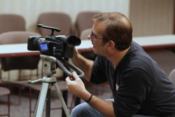 Alan Beavers, videographer and editor of this project. (Photo by Lionel Harris)