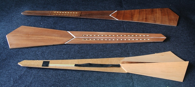 "The ""Arrow"" lamp study models"