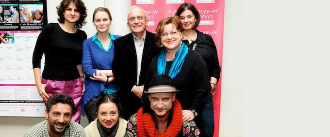 The Festival Team along with Florin Mihailescu, Mona Nicoara, Andi Vasluianu and Cosmina Stratan