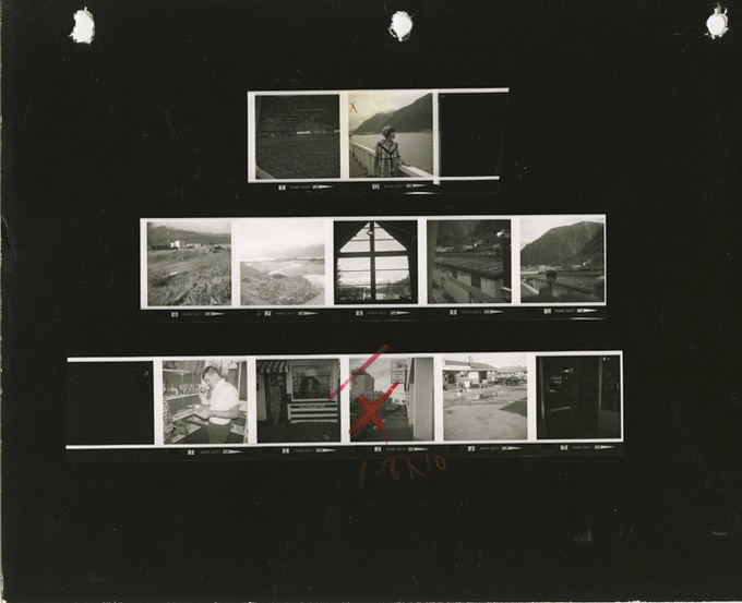 $35 award: Contact sheet from one of Sheila's many work trips to Alaska, where she did stories on Eskimoes and Alaskan lifestyles.