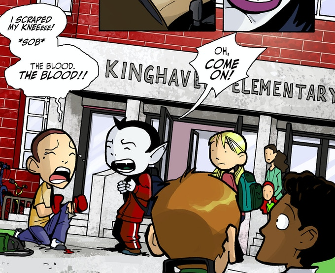 MONSTER ELEMENTARY Panel, Art by Canaan Grall, Words by Nicholas Doan